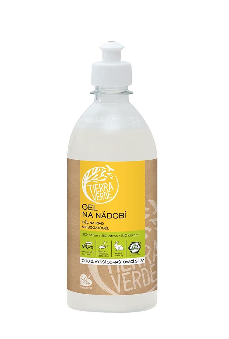 Gel na nádobí BIO citron (lahev 500 ml)