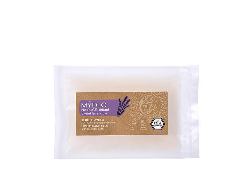 Použití produktu Tekuté mýdlo na ruce – levandule (vzorek 30 ml)