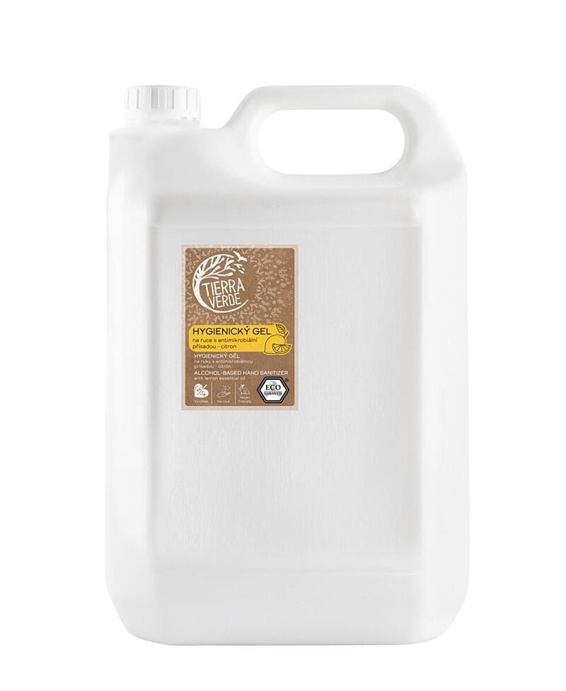 Použití produktu Hygienický gel na ruce citron (kanystr 5 l)
